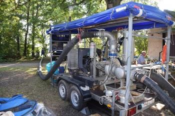 Macht 5.000 l/min: Großpumpe der Fachgruppe Wasserschaden/Pumpen Ortsverband Forchheim