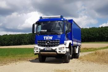 Der Neue im Stall: Ein nagelneuer LKW mit Ladebordwand ist seit Juli das Einsatzfahrzeug der Fachgruppe Elektroversorgung