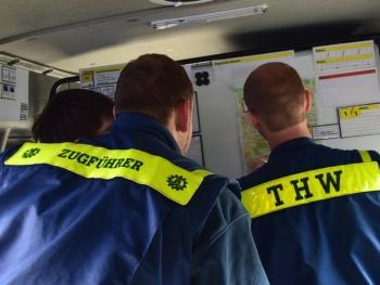 Übung macht den Meister: Der Zugtrupp probte in Forchheim den Betrieb von Zugbefehlsstellen